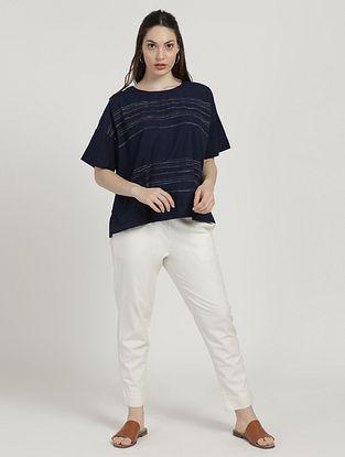 Indigo Printed Cotton Top