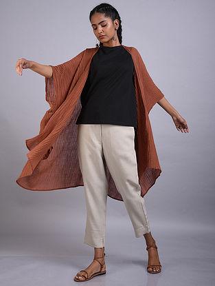 Rust Ramie Cotton Kimono Shrug