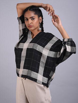 Black Linen Cotton Top