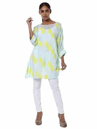 Blue Printed Crepe Tunic