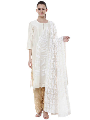 a18fda6d71 Pearl Leaf Kurta with Pants and Blooming Garden Dupatta (Set of 3)