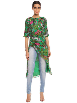 Basil Unicorn Meadow Cut Out Ruched Tunic