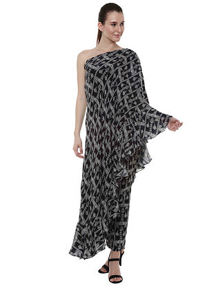 Monochrome Tree One Shoulder Tunic with Pants (Set of 2)