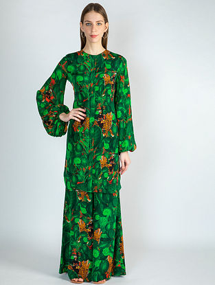 Emerald Jungle Print Tunic with Pants (Set of 2)