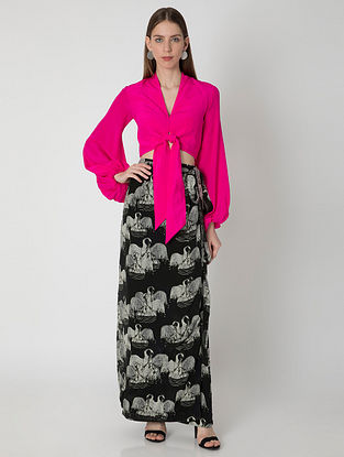 Temple Swan Pink Top with Black Ivory Skirt (Set of 2)