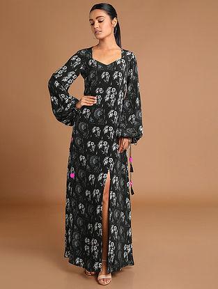 Black Puzzle Long Dress
