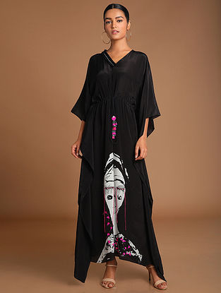 Black Thoughts Of Thoughts Kaftan