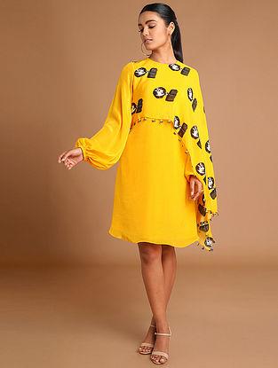 Yellow Reflection Cape Dress