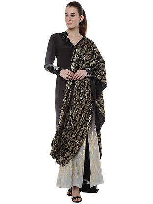 Ombre Egyptian Cane and Blooming Garden Gown Sari