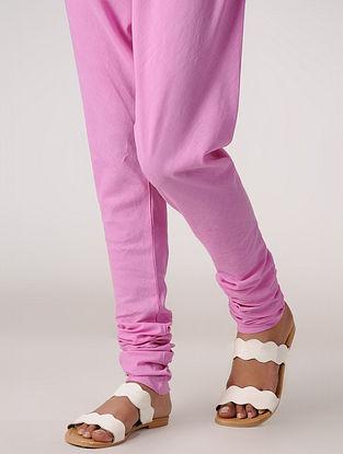 Pink Elasticated-waist Handloom Cotton Churidar