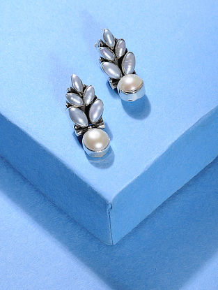 Pearl Silver Earrings