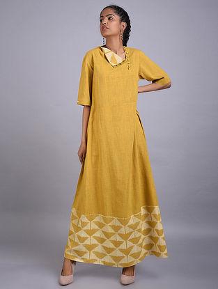 Natural Yellow Shibori Cotton Dress