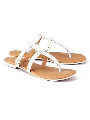 White Handcrafted Leather Sandals