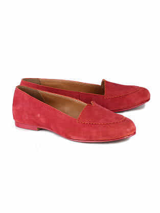 Red Handcrafted Leather Shoes