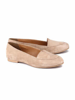 Beige Handcrafted Leather Shoes