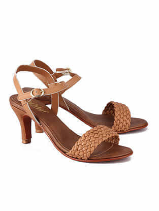 Tan Handcrafted Leather Heels