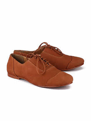 Tan Handcrafted Leather Shoes