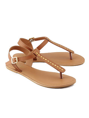 Tan Handcrafted Leather Sandals