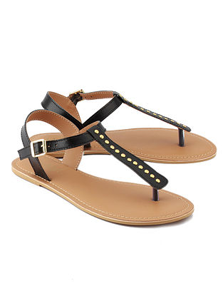 Black Handcrafted Leather Sandals