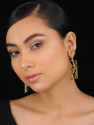 Classic Gold Tone Handcrafted Earrings