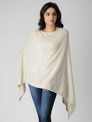 Ivory Wool Blend Poncho