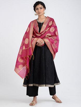 Pink Benarasi Cotton Art Silk Dupatta