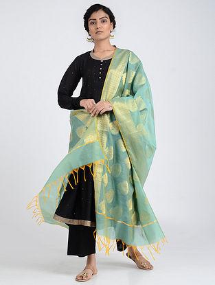 Turquoise Benarasi Cotton Art Silk Dupatta