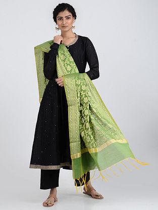 Green Benarasi Cotton Art Silk Dupatta