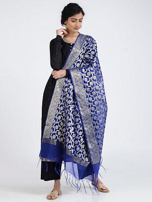Blue Benarasi Cotton Art Silk Dupatta