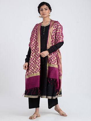 Purple Benarasi Cotton Art Silk Dupatta