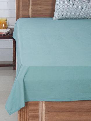 Aqua Solid Dyed Bedsheet