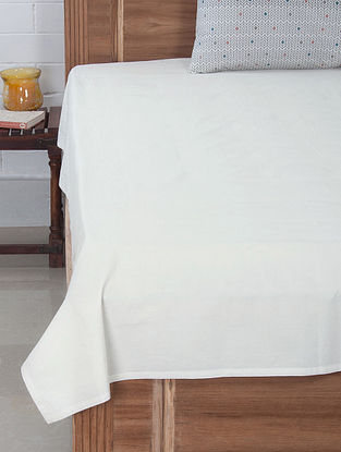 White Solid Dyed Bedsheet