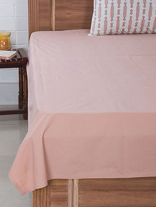 Pink Solid Dyed Bedsheet