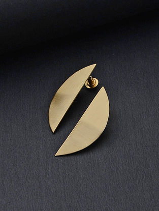 Gold Tone Handcrafted Brass Earrings