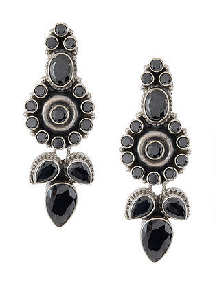 Black Silver Earrings