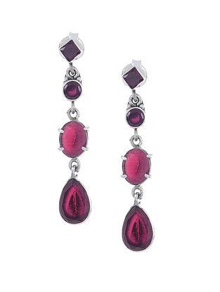 Purple Silver Earrings