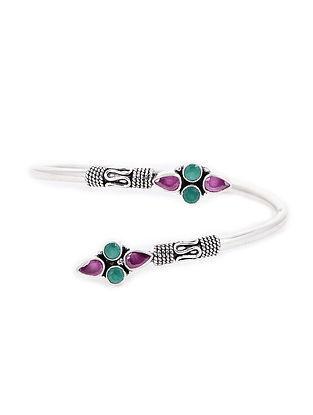 Purple-Green Silver Cuff