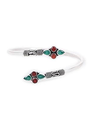 Red-Green Silver Cuff