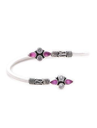 Purple Silver Cuff