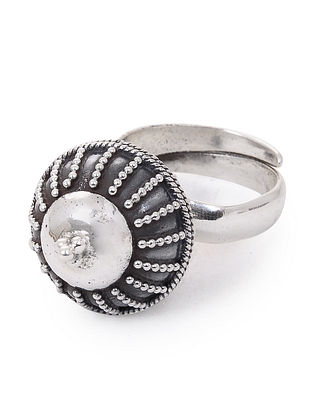 Tribal Adjustable Silver Ring