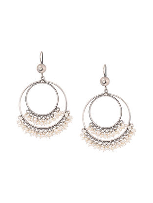 Classic Silver Earrings with Pearls