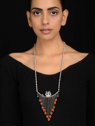Tribal Silver Necklace with Rudraksh