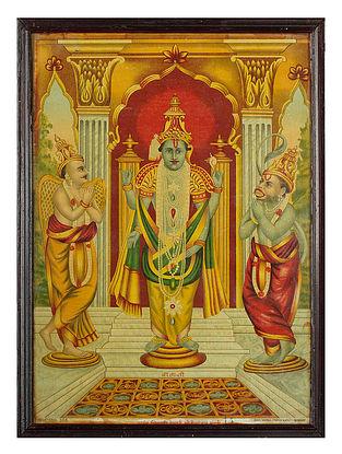 Raja Ravi Varma's Balaji Lithoprint on Paper (14in x 10in)