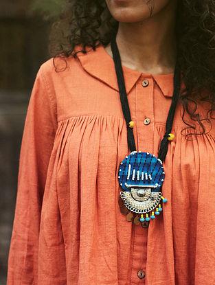 Blue-Black Cotton Necklace