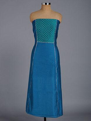 Blue Chanderi Kurta Fabric with Mukaish