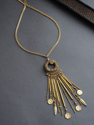 Classic Gold Tone Glass Beaded Necklace