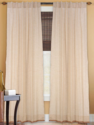 Beige Cotton Curtain 7ft