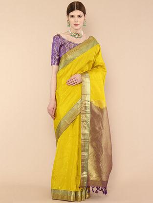 Yellow Handwoven Kanjivaram Silk Saree