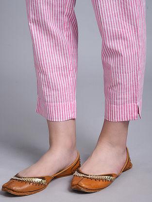 Pink Block Printed Cotton Pants