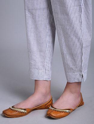 Grey Block Printed Cotton Pants